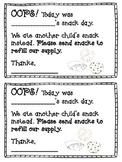Snack Reminder Notes