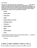 Editable Snack Schedule and Letter to parents