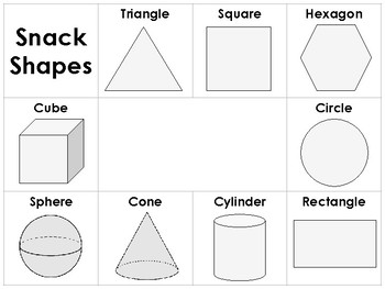 Snack Shapes Placemat