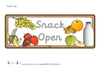 Snack Sign