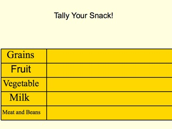 Snack Tally Chart