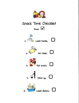 Snack Time Checklist