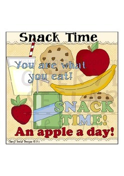 Snack Time Clipart Collection
