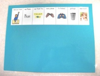 Snack Time Rules-pictures for top of placemat