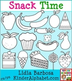 Snack Time in Black and White {Clip Art for Teachers}
