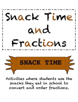 Snack Time with Fractions, Decimals, and Percentage
