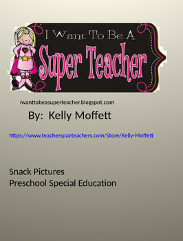Snack Vocabulary Preschool