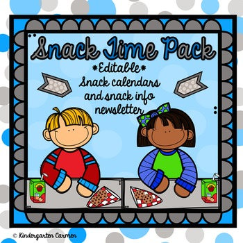 Editable Snack and Share Calendar Kit
