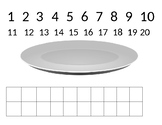 Snack counting mat