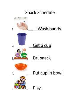 Snack schedule visual