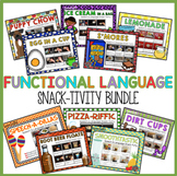 AAC, WH Questions, Sequencing, Core Vocabulary Snack Bundle!