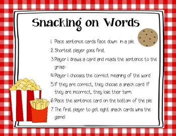 Snacking on Words