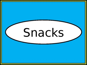 Snacks Crate Label - Lime & Teal