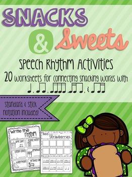 Snacks & Sweets Speech Rhythm Printable Worksheets