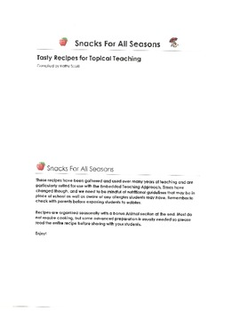 Snacks for All Seasons: Tasty Recipes for Topical Teaching