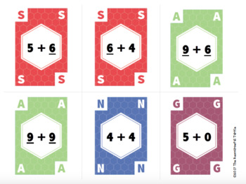 Snag 3: Math Addition Within 20 Card Game