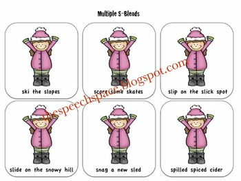 Snag the Snowman! A Game to Target S-Blends