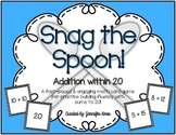 Snag the Spoon! {Addition within 20}