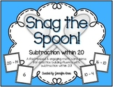 Snag the Spoon! {Subtraction within 20}
