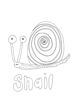 Snail: Animals and Pets: Colouring Page
