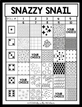 Art Lesson: Snail Art Game | Art Sub Plans