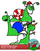 Snail  Christmas / Winter Holiday Clipart
