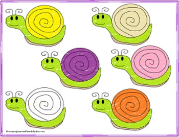 Snail Color Matching Game