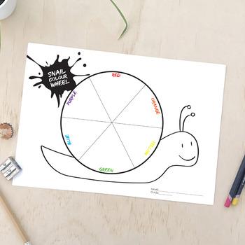 Snail Colour (Color) Wheel A3 Lesson Plan and Painting Techniques