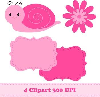 Snail Digital Paper + Clipart