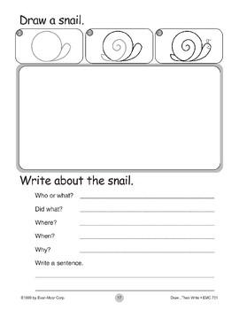 Snail (Draw...Then Write)