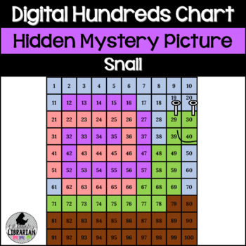 Snail Hundreds Chart Hidden Picture Activity for Spring an
