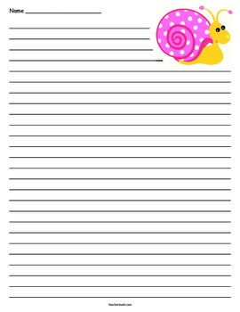 Snail Lined Paper