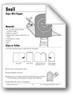 Snail Paper Mitt Puppet