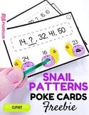 Snail Patterns Poke Cards FREEBIE
