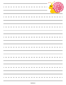 Snail Primary Lined Paper