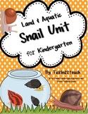 Snail Science Unit for Kindergarten