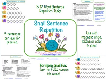 Snail Sentence Repetition