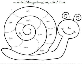 Snail Shell--Practice Reading r-Controlled Vowels