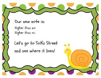 Snail Snail: A song for teaching la