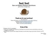 Snail, Snail Beat/Rhythm Worksheets