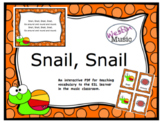 Snail, Snail: ESL Vocab, Flashcards