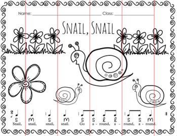 Snail, Snail Folk Song Puzzle and Keepsake