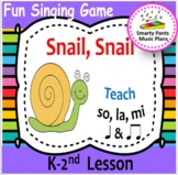 Snail, Snail {Kodaly Song to teach ti-ti, ta & la}