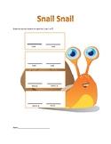 Snail Snail  - Worksheets for Ta, Ta-Ti (Ti-Ti), and La