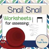 Snail Snail Worksheets {ta, tadi/titi, la}