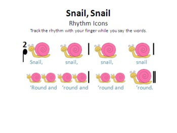 Snail, Snail - a mi so la song with original poem, games, and instrumentation