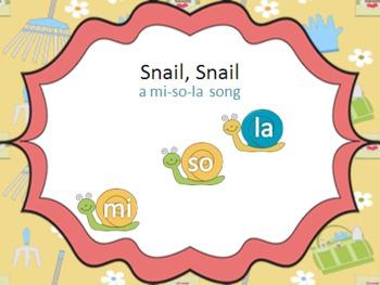 Snail, Snail - a mi so la song with original poem, games,