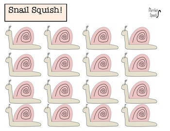 Snail Squish (Minimal Prep) Blank Sheets! Useful for articulation & language!
