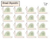 Snail Squish (Minimal Prep) Blank Sheets! Useful for artic