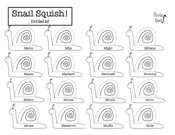 Snail Squish (28 pages) P, B, M Articulation Activity! All Positions! No-Prep